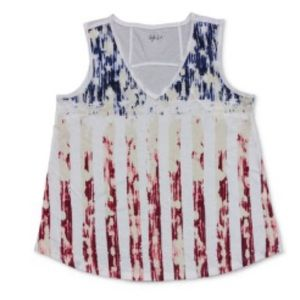 Style & Co graphic print patriotic tee tank Size S